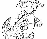 Coloring pages Little cute dragon