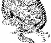 Free coloring and drawings Maternal chinese dragon Coloring page