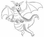 Free coloring and drawings Pretty dragon Coloring page