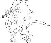 Coloring pages Simple Dragon Drawing