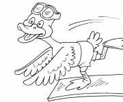 Free coloring and drawings Duck in the pool Coloring page