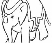Free coloring and drawings Circus elephant Coloring page