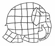 Coloring pages Easy elephant