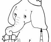 Coloring pages Elephant birthday