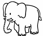 Coloring pages Elephant for child