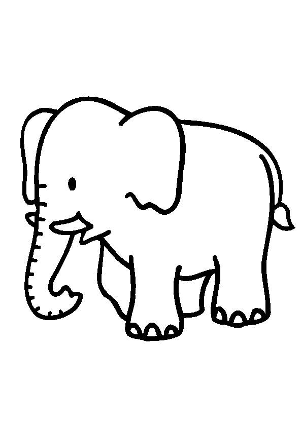 Free coloring and drawings Elephant for child Coloring page