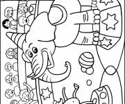 Coloring pages Elephant shows