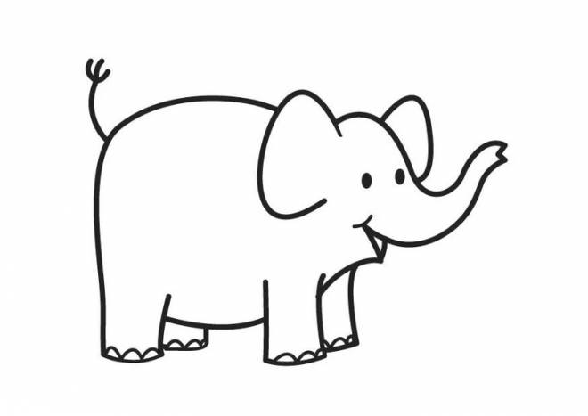 Free coloring and drawings Little Elephant Coloring page