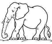 Free coloring and drawings Maternal elephant Coloring page