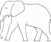 Coloring pages Simple elephant