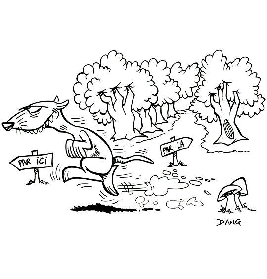 Free coloring and drawings Humorous Forest Ferret Coloring page