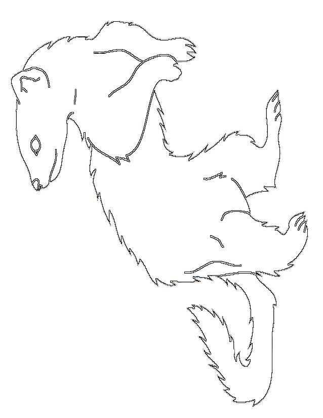 Free coloring and drawings Simple Ferret Coloring page