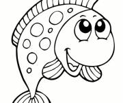 Free coloring and drawings A beautiful Fish Coloring page