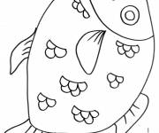 Coloring pages A big fish