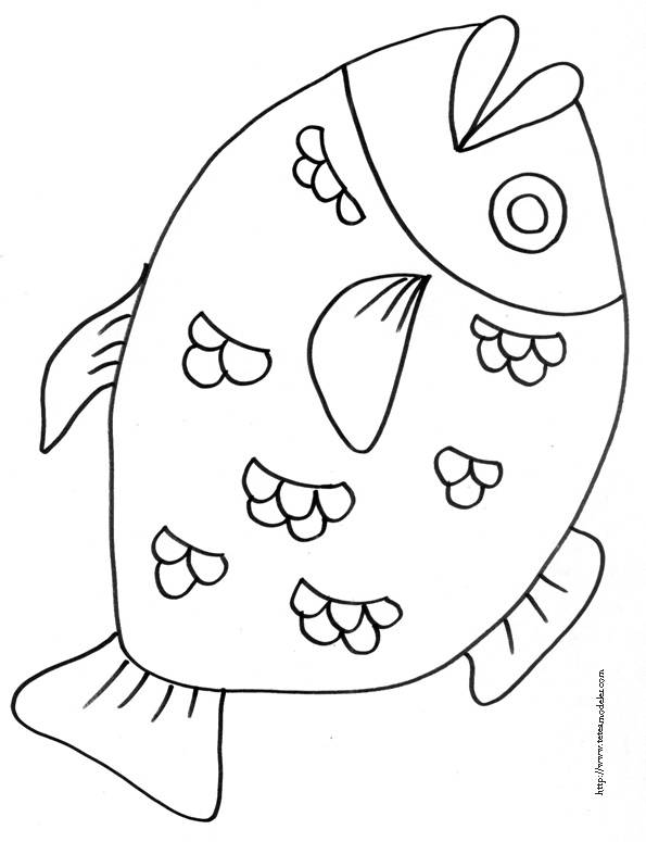 Free coloring and drawings A big fish Coloring page