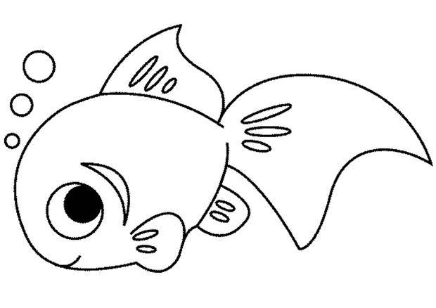 Free coloring and drawings A little fish Coloring page