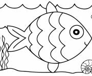 Coloring pages A picture of Fish