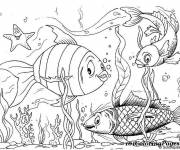 Coloring pages Cartoon fish