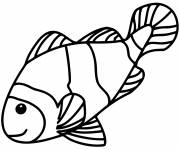 Free coloring and drawings Color fish Coloring page