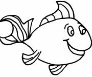 Coloring pages Fish to cut