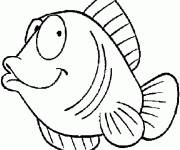 Coloring pages Funny fish