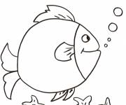 Free coloring and drawings Humorous fish Coloring page