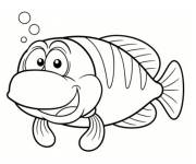 Coloring pages Laughing fish