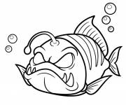 Coloring pages Nasty fish