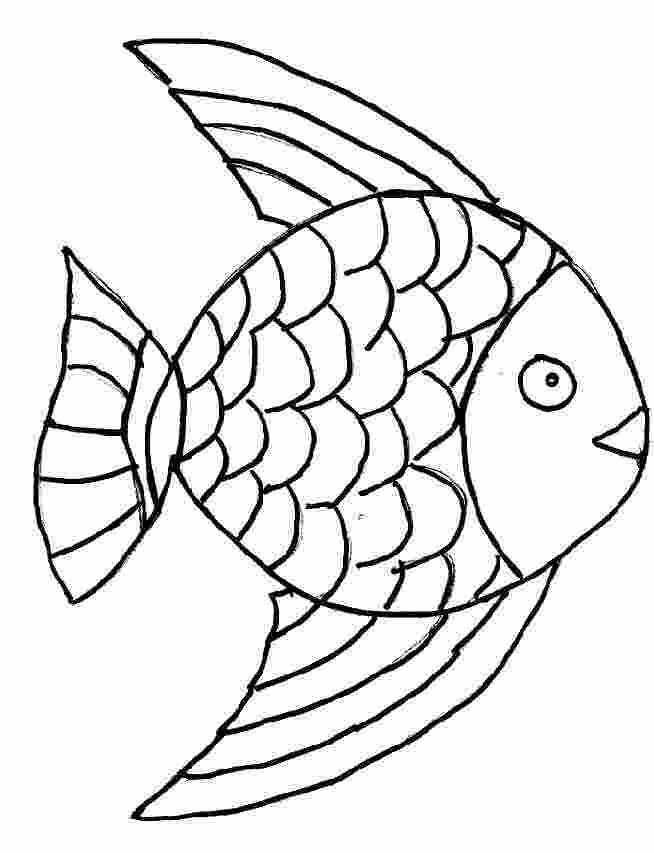 Free coloring and drawings Pencil fish Coloring page
