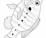 Coloring pages Striped fish