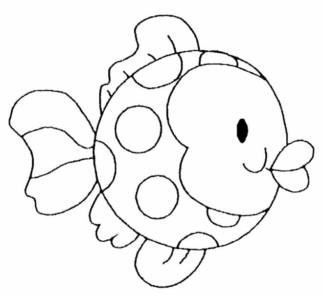 Free coloring and drawings Stylized fish Coloring page