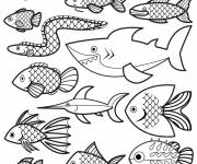 Coloring pages Vector fish