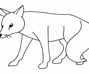 Coloring pages A sad fox