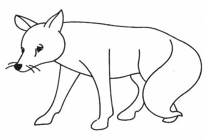 Free coloring and drawings A sad fox Coloring page