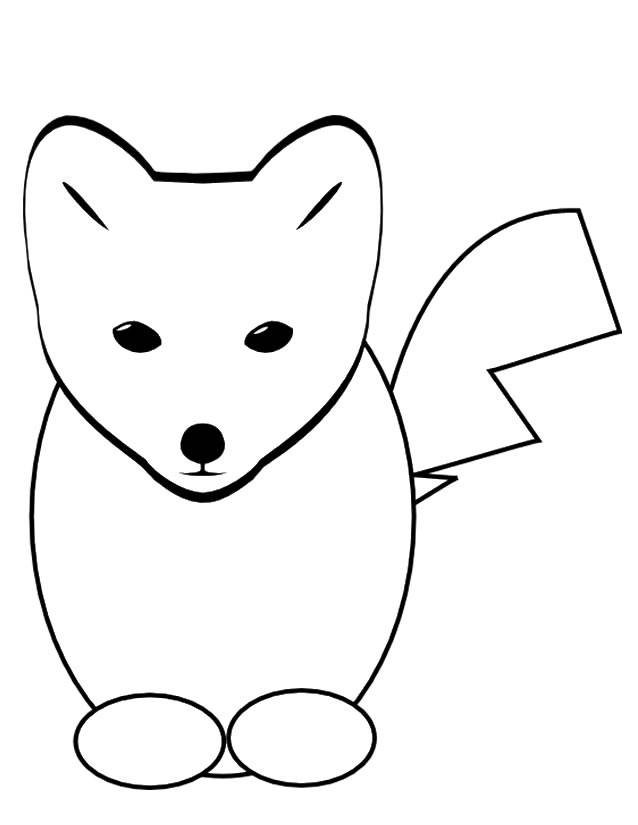 Free coloring and drawings Cartoon fox Coloring page