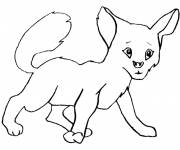 Free coloring and drawings Cute fox Coloring page