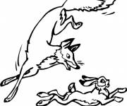 Coloring pages Fox hunting
