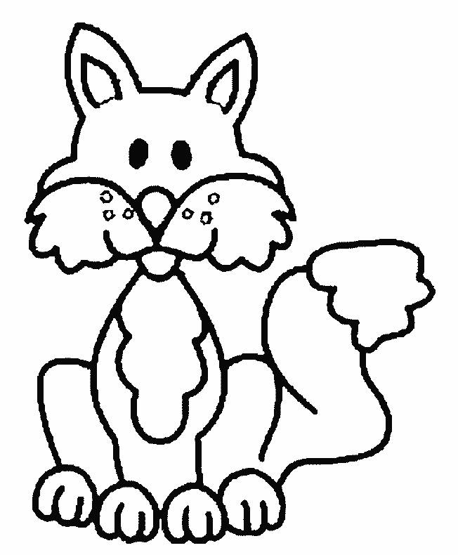 Free coloring and drawings Funny fox Coloring page