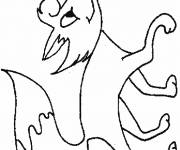 Free coloring and drawings Happy fox Coloring page