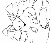 Coloring pages The Fox in the Forest