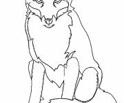 Coloring pages The Fox is watching you