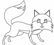 Coloring pages Too cute fox