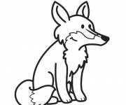 Coloring pages Vector little fox