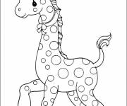 Coloring pages A beautiful Giraffe