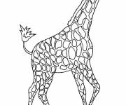 Free coloring and drawings A beautiful Giraffe online Coloring page
