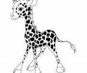 Coloring pages Adorable giraffe