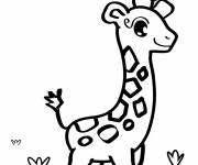 Free coloring and drawings Cute giraffe Coloring page