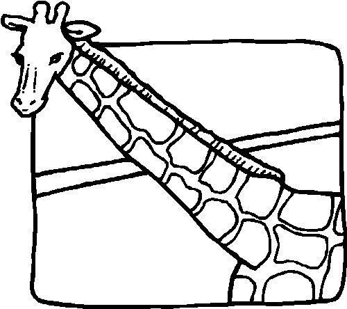 Free coloring and drawings Giraffe and image Coloring page