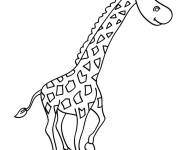 Free coloring and drawings Giraffe for child Coloring page