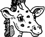 Coloring pages Giraffe head